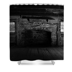 Appalachian Fireplace Shower Curtain by David Lee Thompson