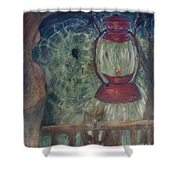 Shower Curtain featuring the painting Appalachian Nights  by Avonelle Kelsey
