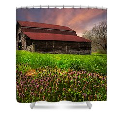 Appalachian Spring Shower Curtain by Debra and Dave Vanderlaan