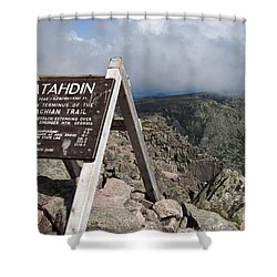 Appalachian Trail Mount Katahdin Shower Curtain