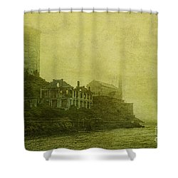 Apparating Horrors Shower Curtain by Andrew Paranavitana