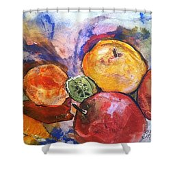 Appetite For Color Shower Curtain by Sherry Harradence