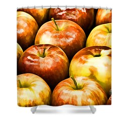 Apple A Day Shower Curtain by Linda Blair