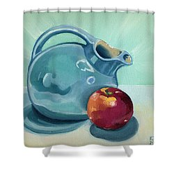 Apple And Ball Pitcher Shower Curtain