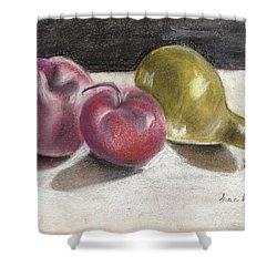 Apple And Pear Shower Curtain
