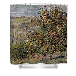 Apple Blossom Shower Curtain by Claude Monet