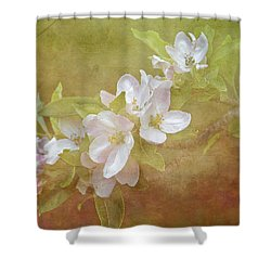 Apple Blossom Spring Shower Curtain