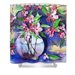 Apple Blossoms Shower Curtain by Sherry Harradence