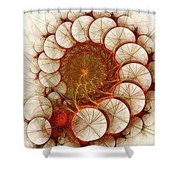 Apple Cinnamon Shower Curtain by Anastasiya Malakhova