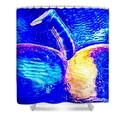 Apple Cup Shower Curtain by Omaste Witkowski