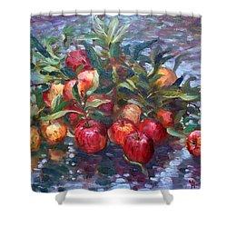 Apple Harvest At Violas Garden Shower Curtain