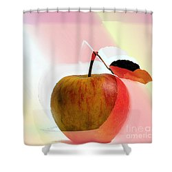 Apple Peel Shower Curtain