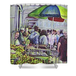 Apple Pie Requires Apples Hungary Shower Curtain by Gaye Elise Beda