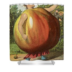 Apple Sauce Shower Curtain by Aged Pixel