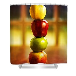 Apple Stack Shower Curtain