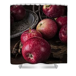 Apple Still Life Shower Curtain by Edward Fielding