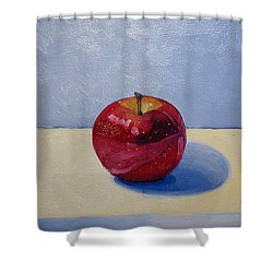 Apple - White And Blue. Shower Curtain