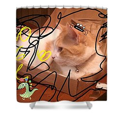 Applejack Lost Among The Monsters Shower Curtain