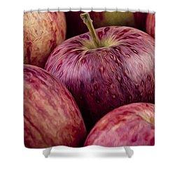 Apples 01 Shower Curtain by Nailia Schwarz