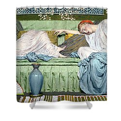 Apples Shower Curtain by Albert Joseph Moore