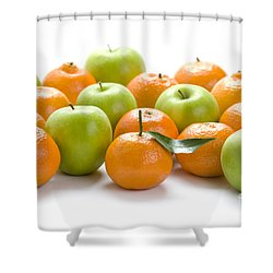 Shower Curtain featuring the photograph Apples And Oranges by Lee Avison