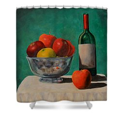Apples And Wine Shower Curtain
