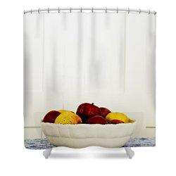 Apples Shower Curtain by Margie Hurwich