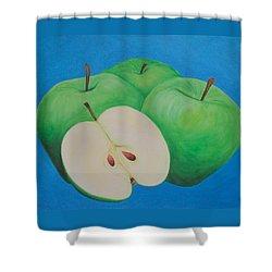 Apples Shower Curtain by Sven Fischer