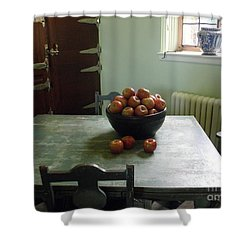 Apples Shower Curtain by Valerie Reeves