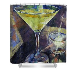 Appletini Shower Curtain by Michael Creese