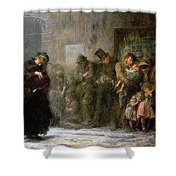 Applicants For Admission To A Casual Shower Curtain by Sir Samuel Luke Fildes