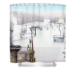 Apres-ski At Hidden Valley Shower Curtain by Albert Puskaric