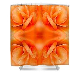 Apricot Begonia Shower Curtain by  Onyonet  Photo Studios