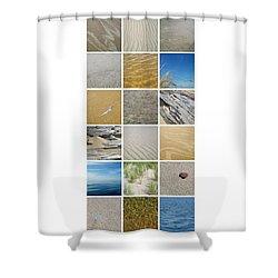 April Beach Shower Curtain by Michelle Calkins