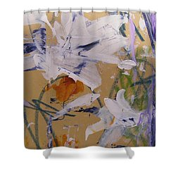 Shower Curtain featuring the painting April Showers 1 by Nancy Kane Chapman