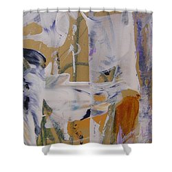 Shower Curtain featuring the painting April Showers 2 by Nancy Kane Chapman