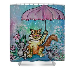 April Showers Shower Curtain by Leslie Manley