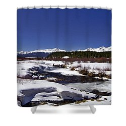 April Thaw Shower Curtain by Jeremy Rhoades