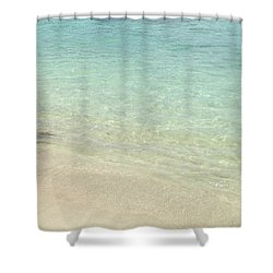 Aqua Blue Waters Shower Curtain