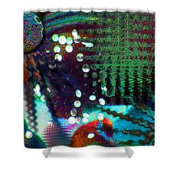 Aqua Dish Shower Curtain