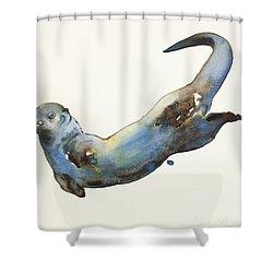 Aqua Shower Curtain by Mark Adlington