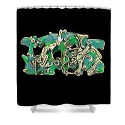 Aqua Reef Shower Curtain by Laura Wilson