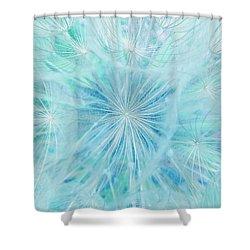 Aqua Salsify Shower Curtain