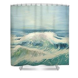 Aqua Sea Scape Shower Curtain