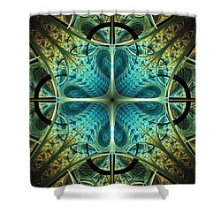Aqua Shield Shower Curtain by Anastasiya Malakhova