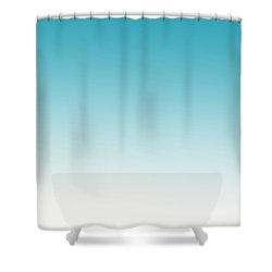 Aqua Sky Shower Curtain