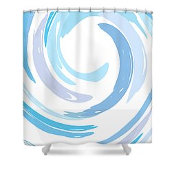 Aqua Swirl Shower Curtain