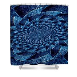 Aqua Tint Memories Shower Curtain by Chris Berry