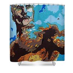 Aquaman - Reflections Shower Curtain by Kelly Hartman