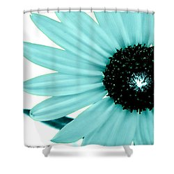 Shower Curtain featuring the photograph Aquamarine Sunflower Burst by Michelle Frizzell-Thompson